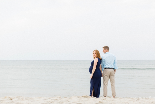 Crane Beach maternity session photographed by Deborah Zoe Photography.