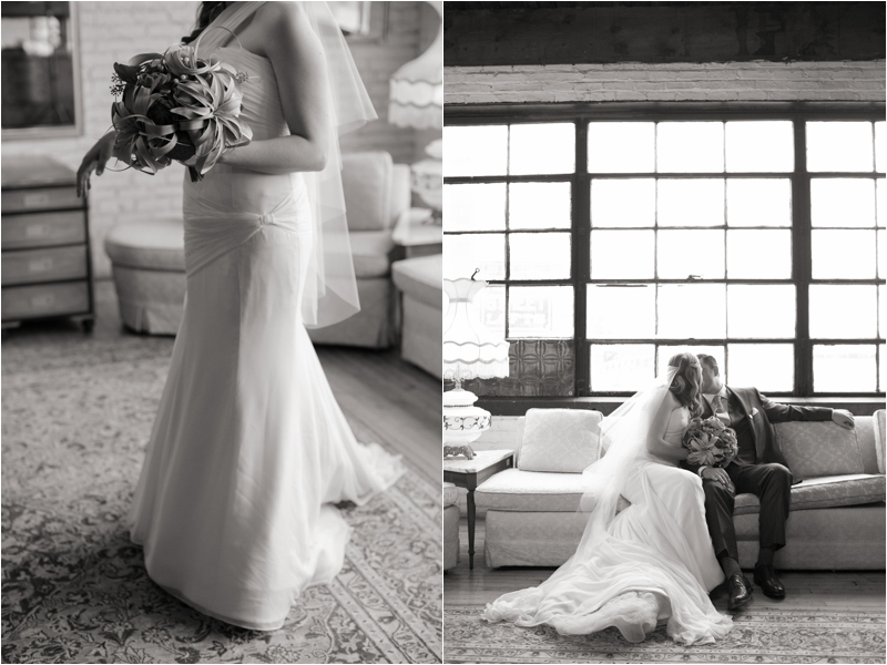Bridal portraits at Salvage One in Chicago