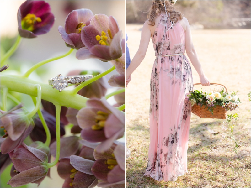 Spring inspired engagement session with florals from Whim Events.