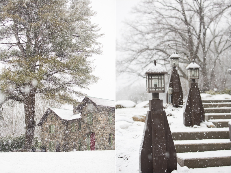 A snowy winter wedding at the Willowdale Estate in Topsfield