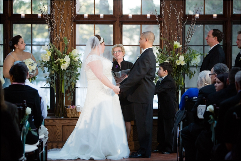 Winter Ceremony at Willowdale Estate