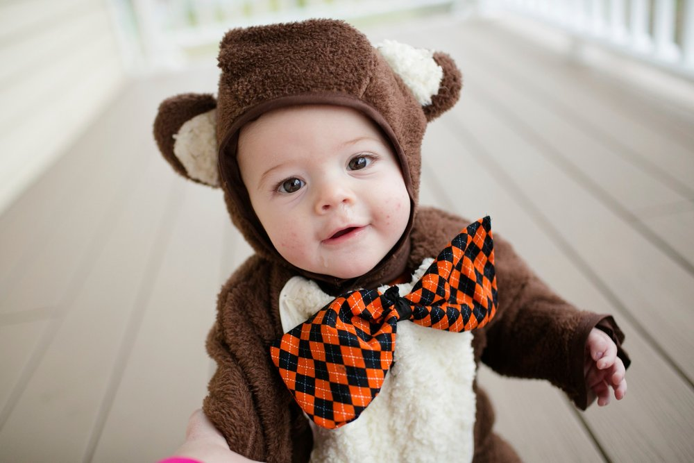 In 2013 Jonathan was a cuddly bear!! My Mom created this adorable get up!!