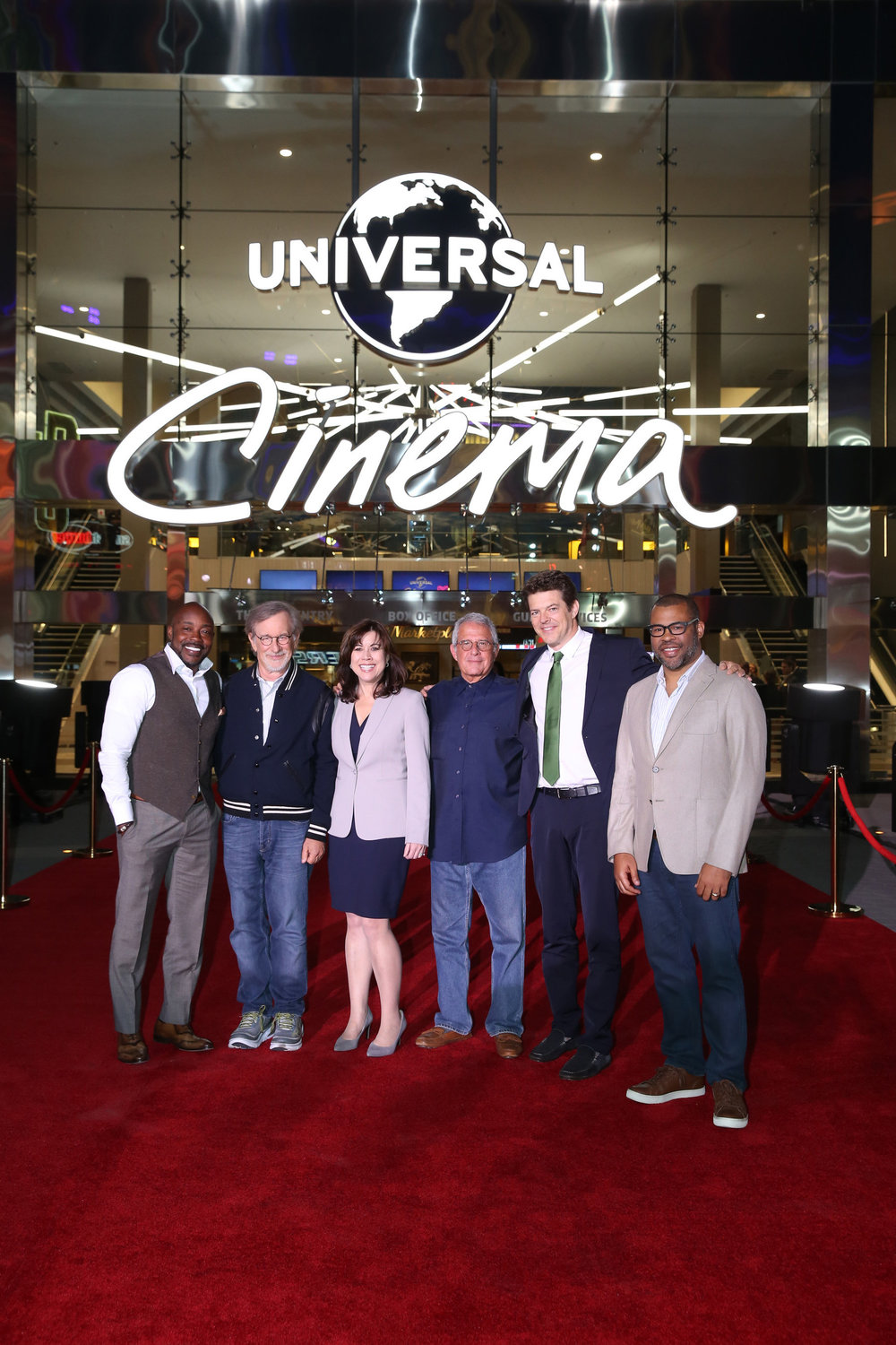 NBCUniversal Vice Chairman Ron Meyer and acclaimed filmmakers Steven Spielberg, Jordan Peele, Will Packer and Jason Blum helped celebrate the grand opening of Universal CityWalk's all-new Universal Cinema in Los Angeles on Thursday, April 20, 2017.