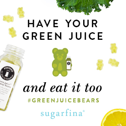 Sugarfina's Green Juice Bears are back! Buy 3 Get 1 Free on Large Green Juice Bears with code GREENBEARS (valid 9/7-9/13)
