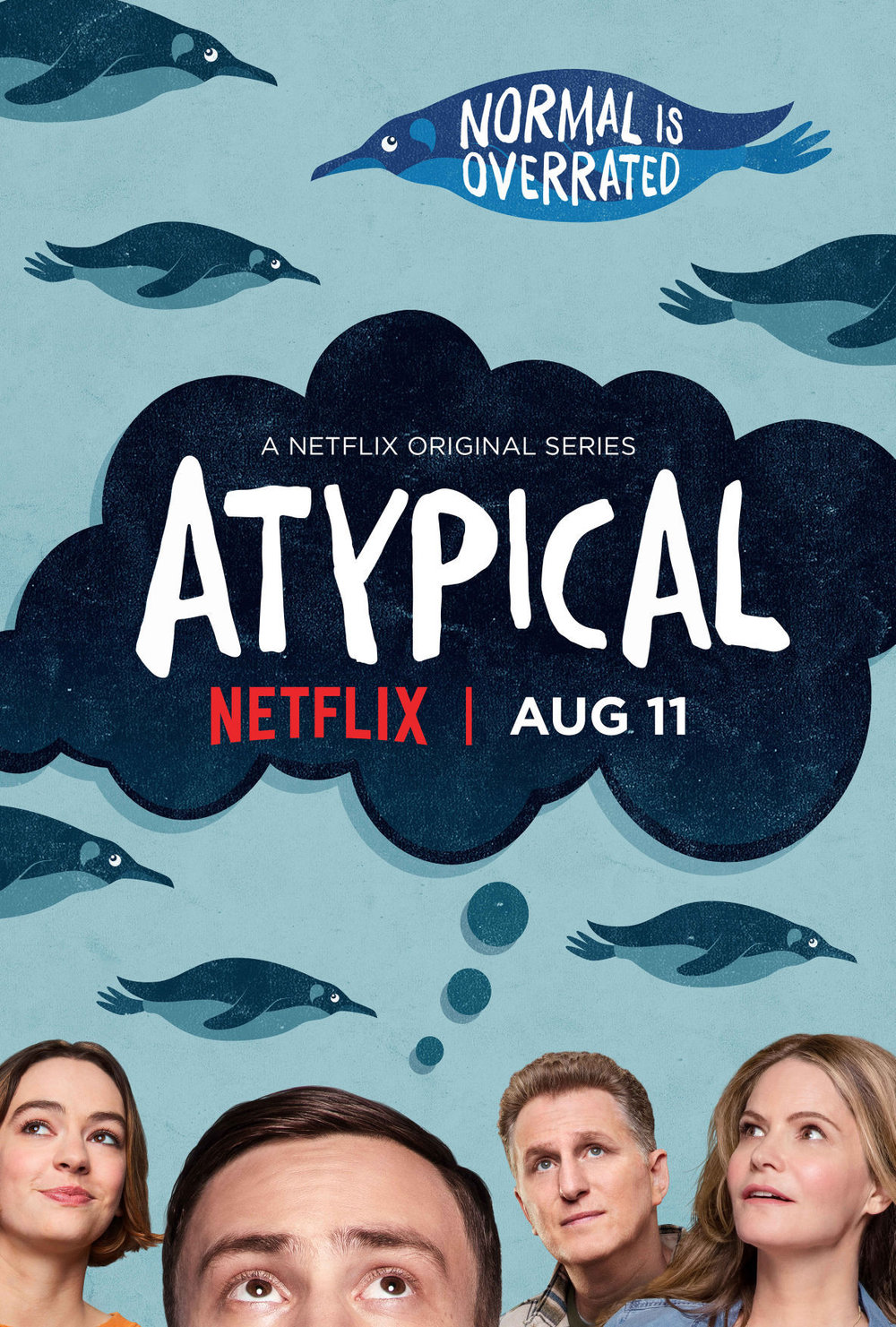 Atypical - Atypical is a coming-of-age dark comedy television series created by Robia Rashid for Netflix. Sam, an 18-year old on the autism spectrum portrayed by Keir Gilchrist, decides it's time to find a girlfriend, a journey that sets Sam's mom on her own life-changing path as her son seeks more independence. Gilchrist said about the character,