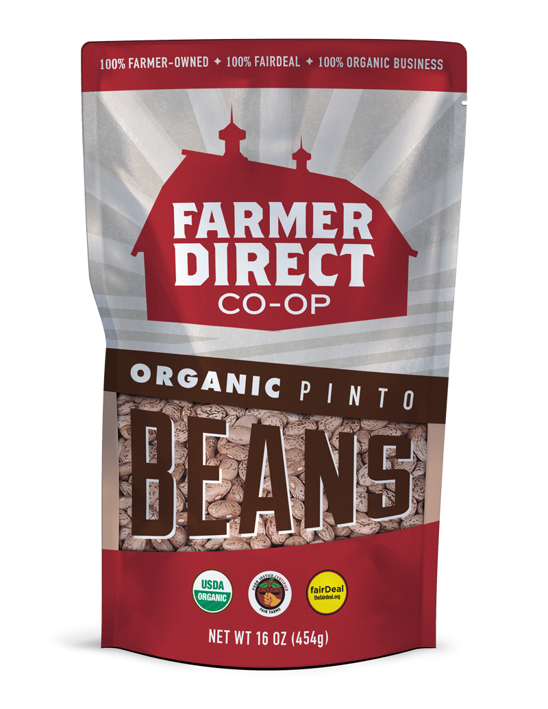 Organic, fairDeal Pinto Beans from Farmer Direct Co-op