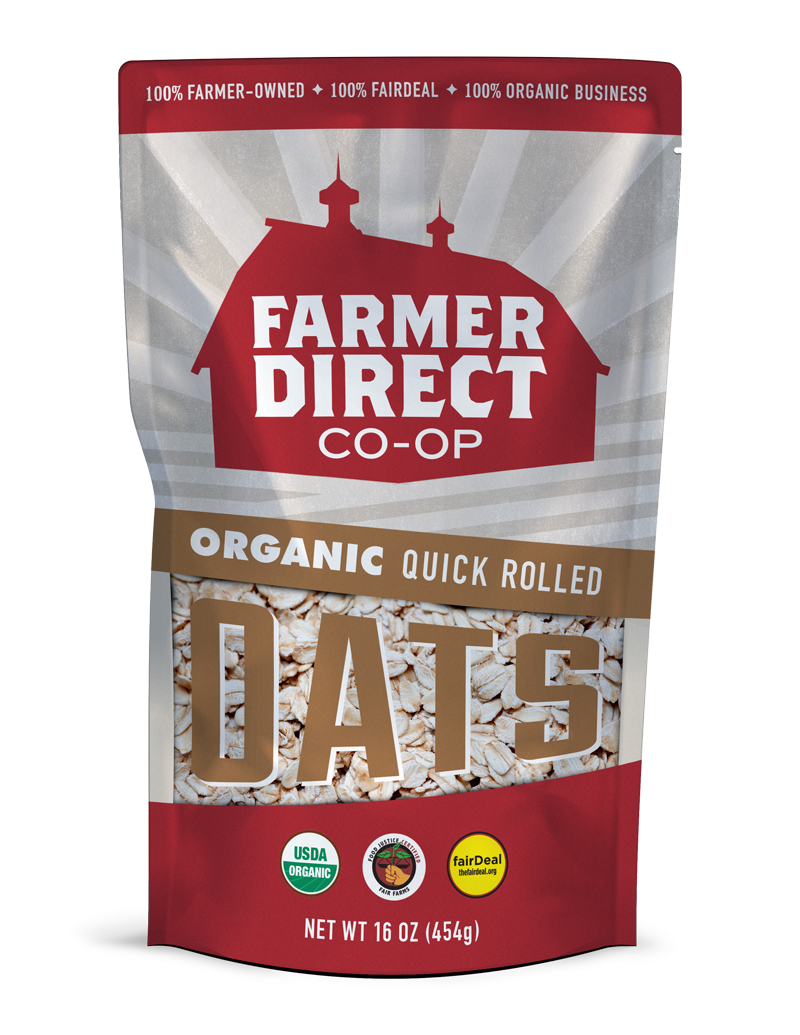 Organic, fairDeal Quick Rolled Oats from Farmer Direct Co-op