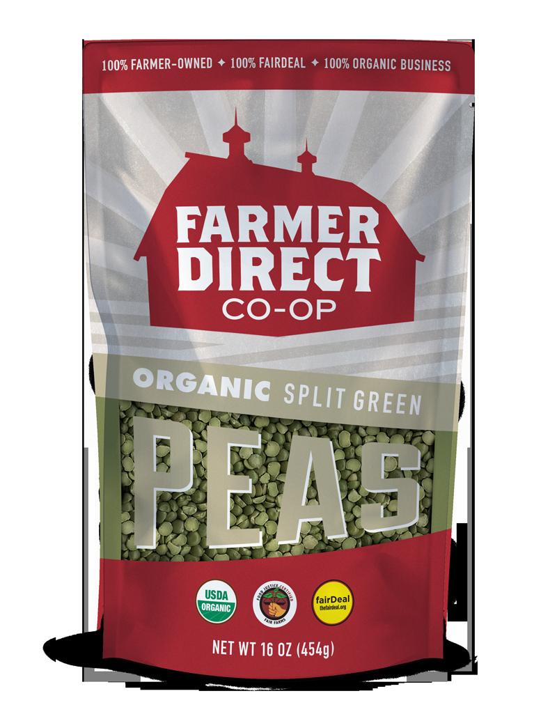 Organic, fairDeal Split Green Peas from Farmer Direct Co-op