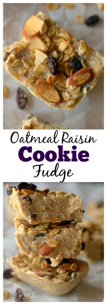 Oatmeal Raisin Cookie Fudge with Farmer Direct Co-op oats