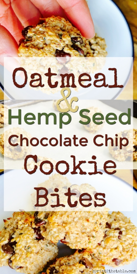Oatmeal & Hemp Seed Chocolate Chip Cookies
