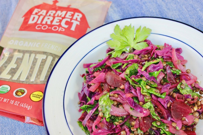 Detox Salad with Farmer Direct French Green Lentils