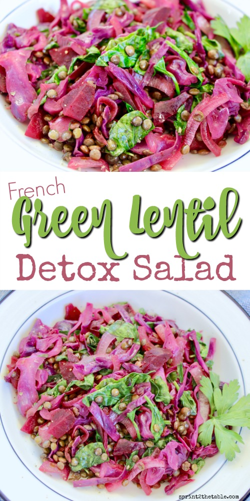 This French Green Lentil Detox Salad is packed full of detoxifying ingredients!