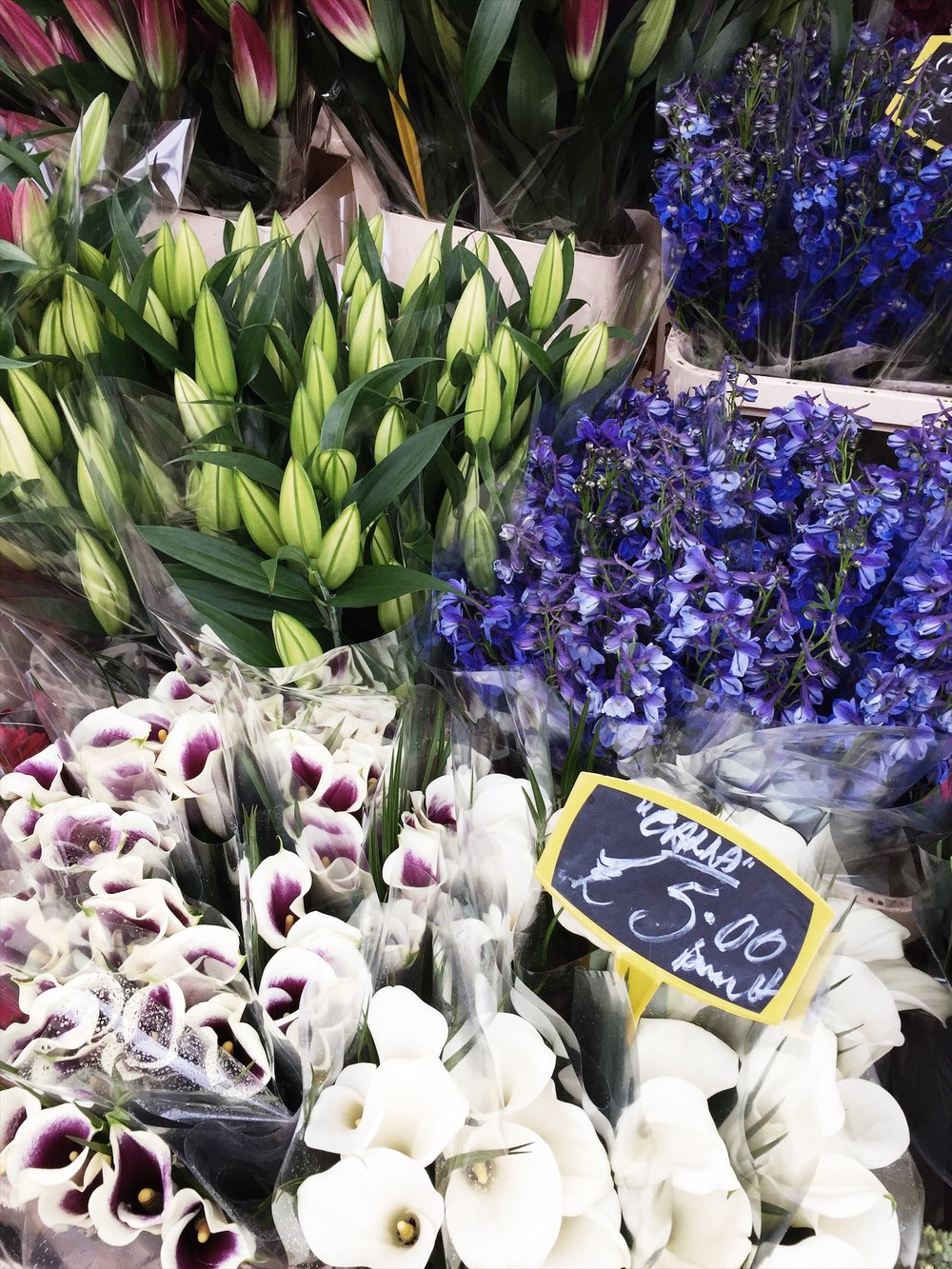 The Beaux Journals @ Columbia Flower Market in London