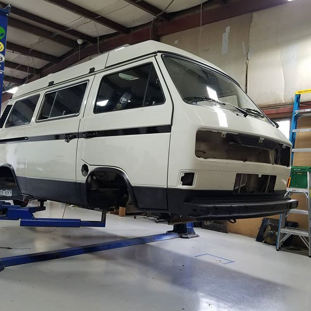 Back to the Future predicted we'd have hover conversions by now so we're getting started on our own. #vanagonlife #vanlife #westylife