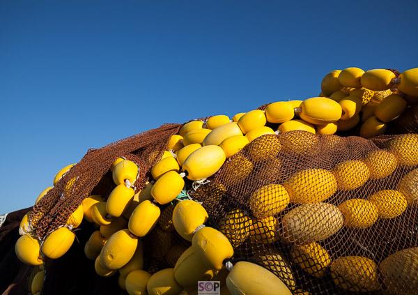 yellow fishing buoys