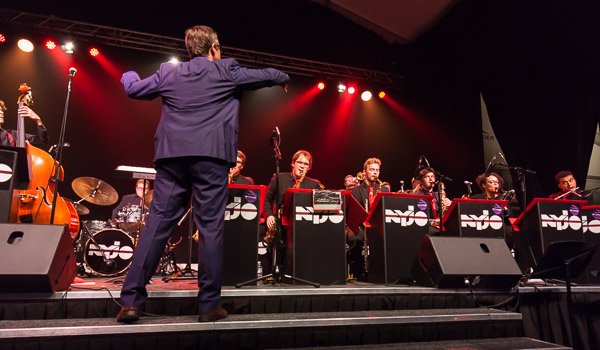 national youth jazz orchestra on stage at rugby school festival nyjo