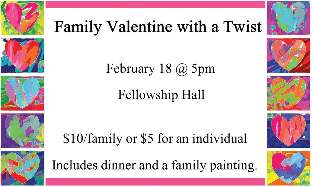 SIGN UP By January 29 in the foyer.