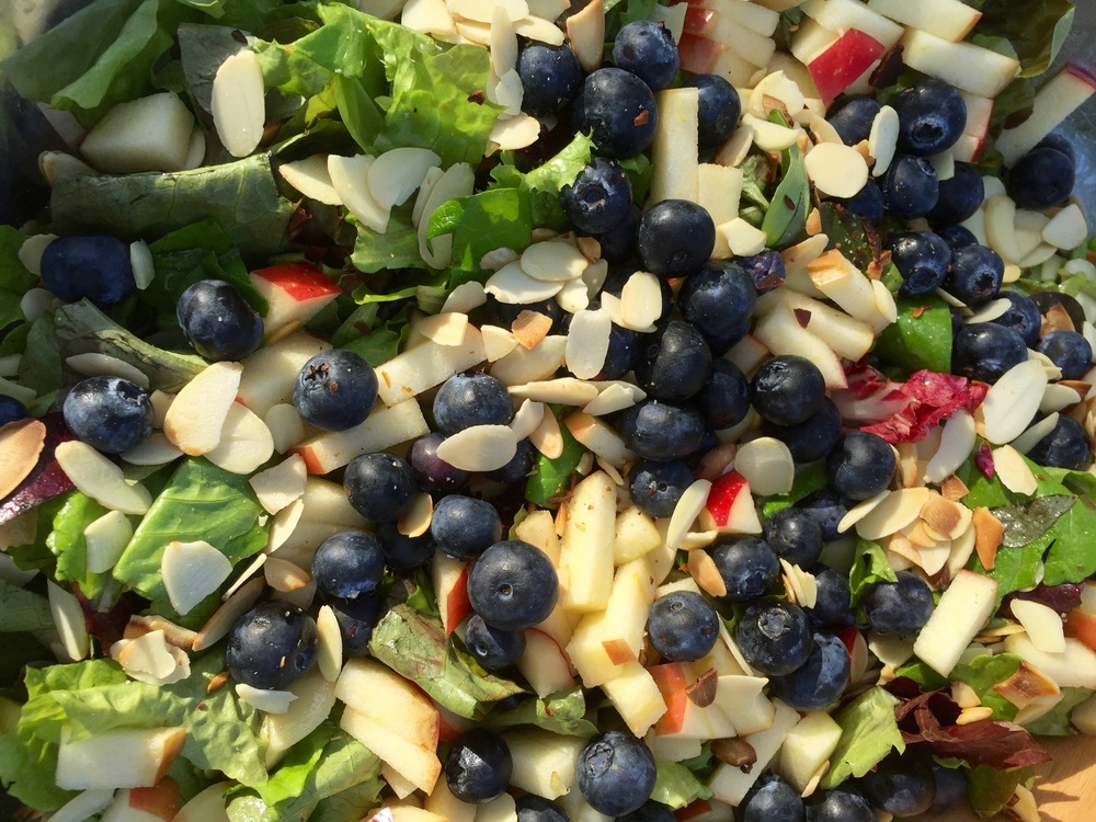 blueberry almond apple salad