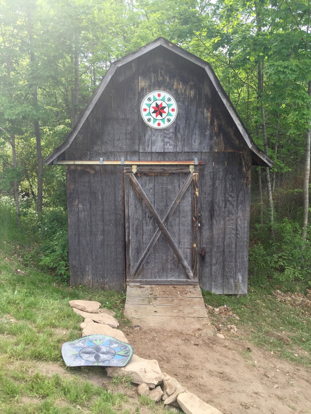 After: A hex sign on our shed