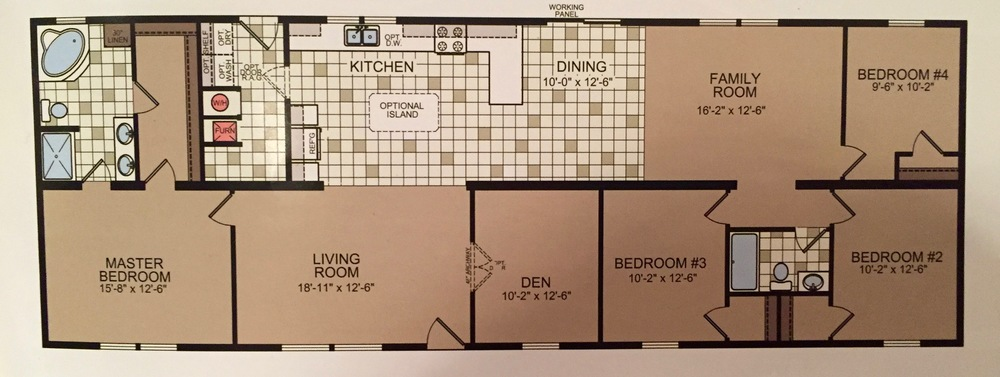 Double wide floor plan 5 bedrooms in 1600 square feet for 5 bedroom double wide