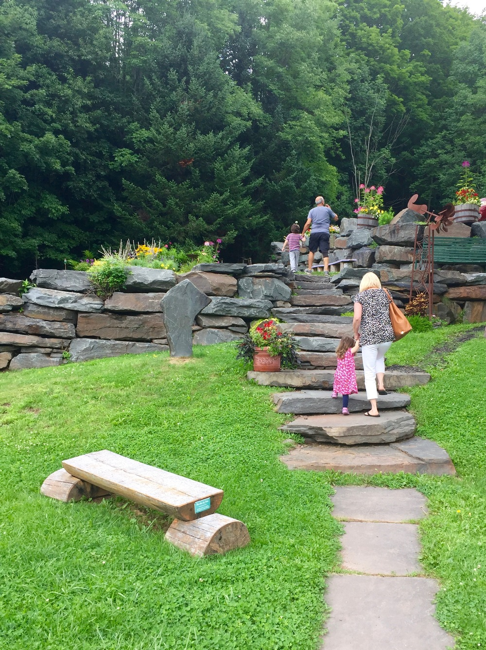Catskill Mountain Country Store stone steps