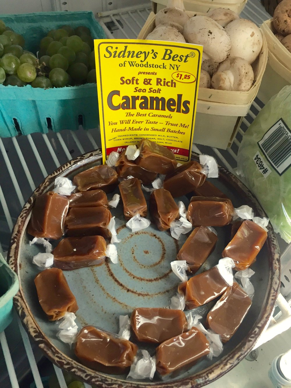 "Sidney's Best of Woodstock, NY presents Sea Salt Caramels. ""The best sea salt caramels you will ever taste."""