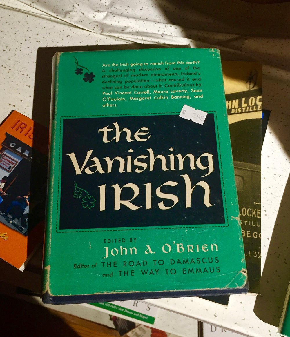 A used book at  Guaranteed Irish  in East Durham.