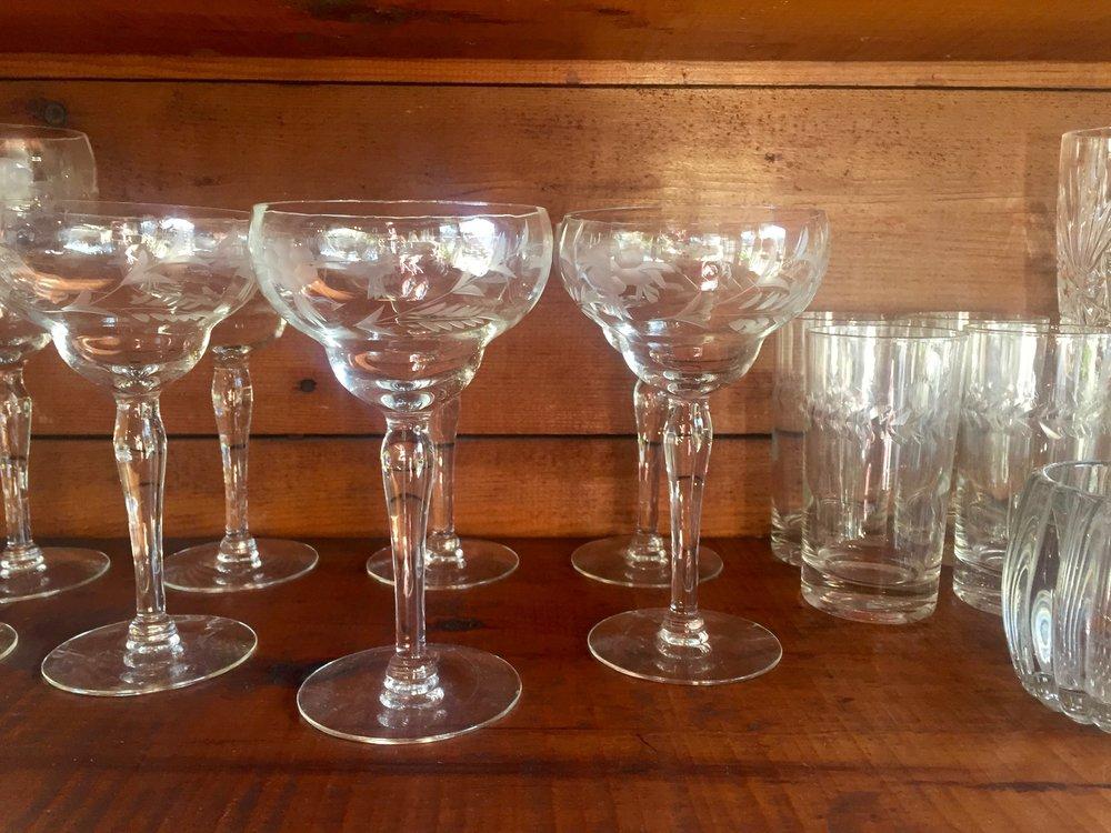 antique cocktail glasses