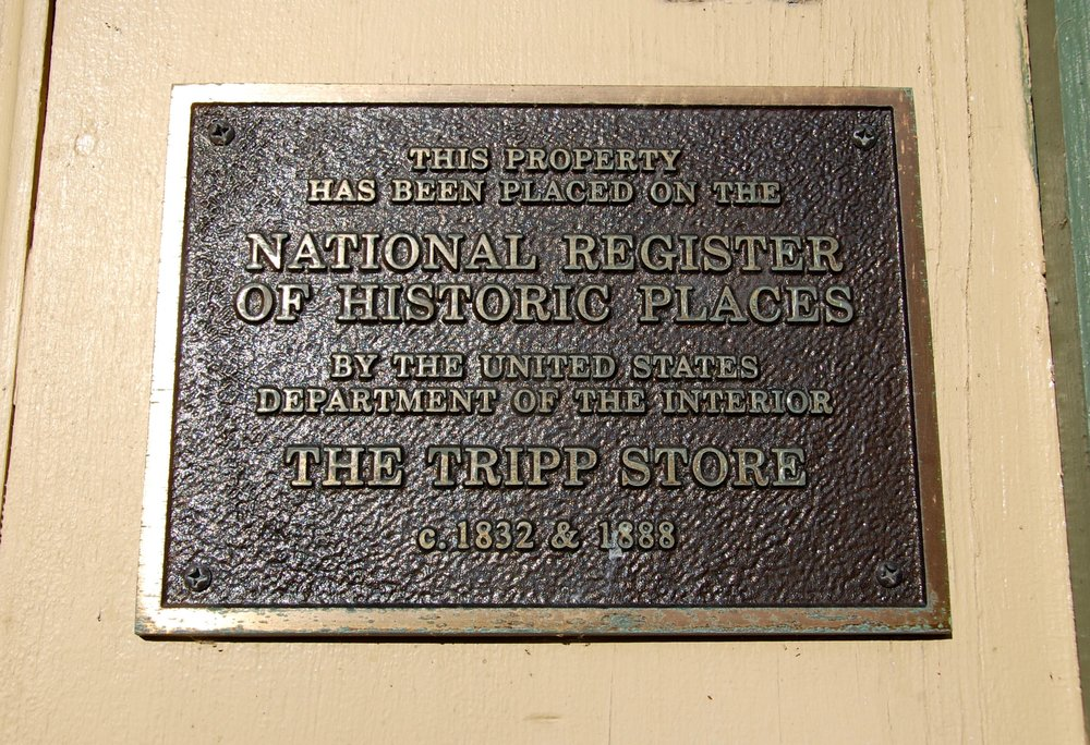 Tripp Store historial marker