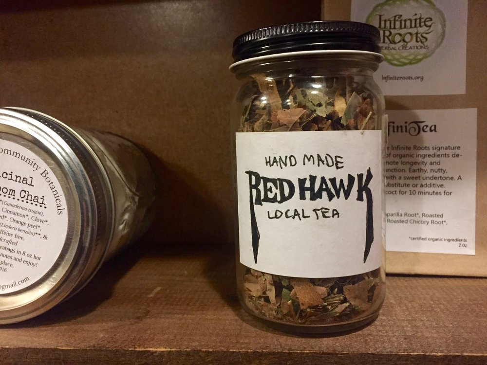 Red Hawk Tea, local and hand-made