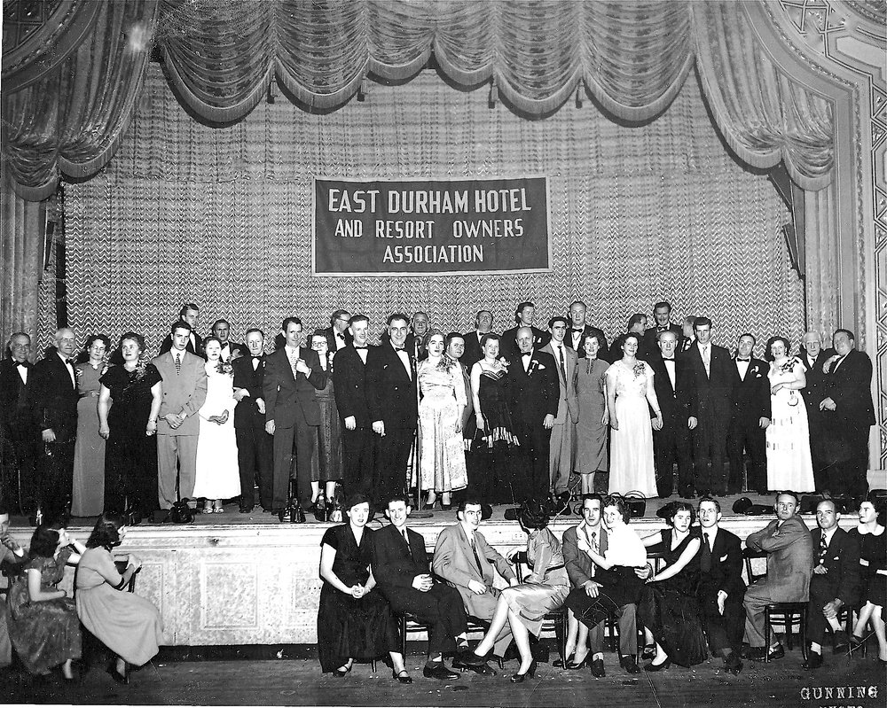 East Durham Hotel and Resort Owners Association in the 1950s; photo courtesy of Kevin Ferguson