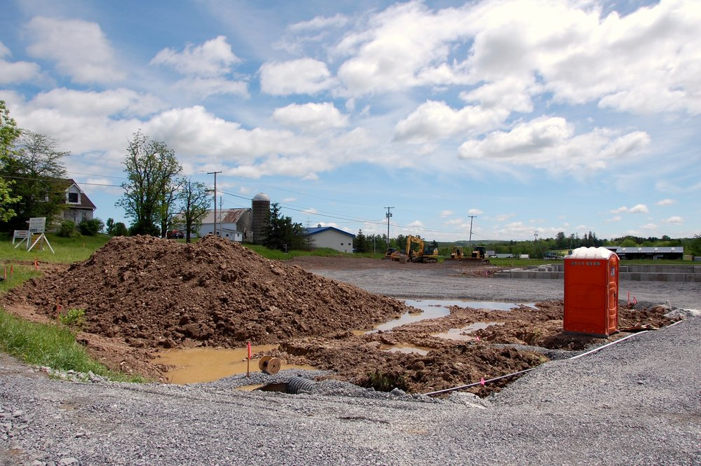Durham construction site at Route 145 and Brown Road