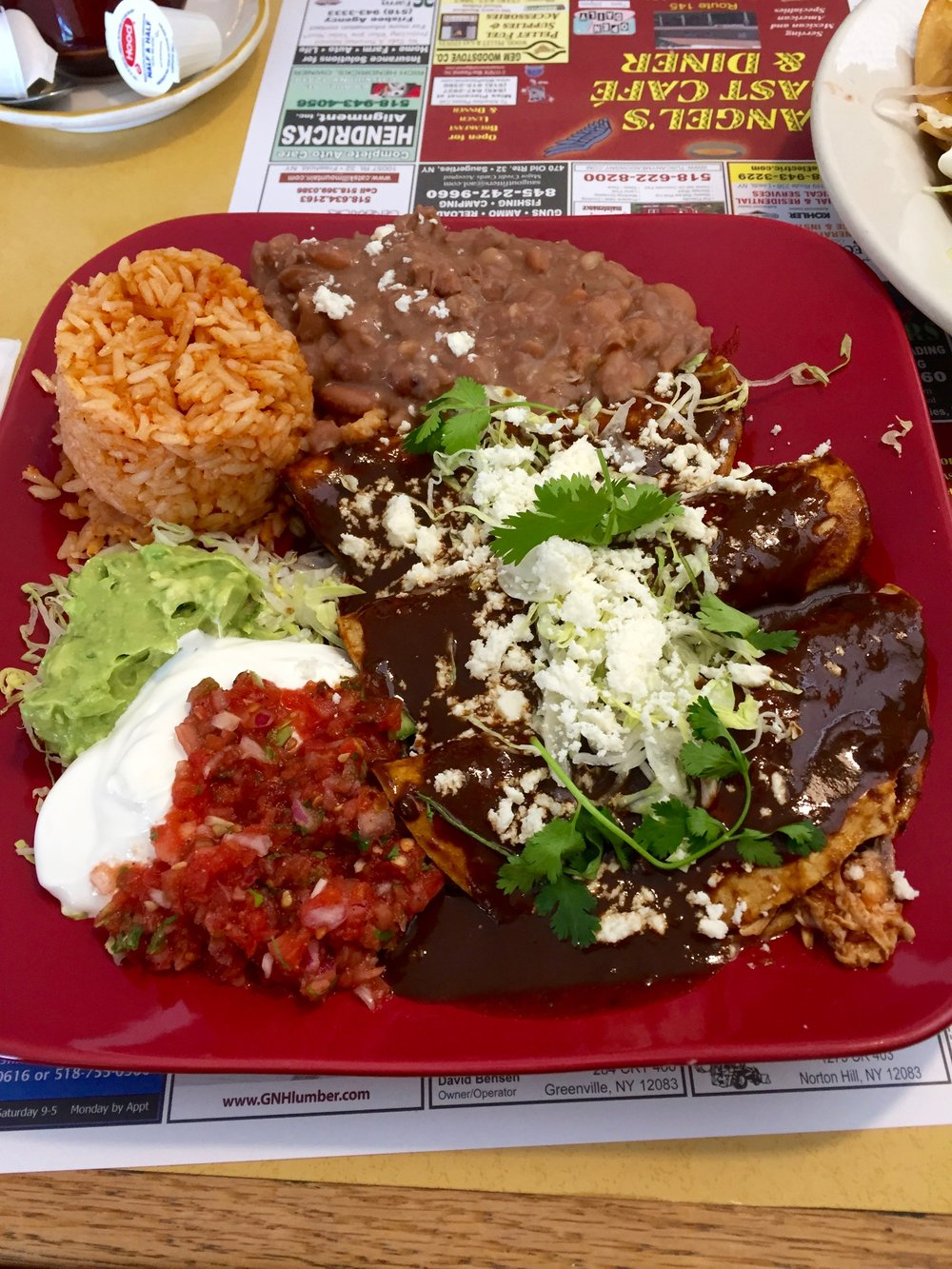 Enchiladas from Angel's Cafe in East Durham, NY
