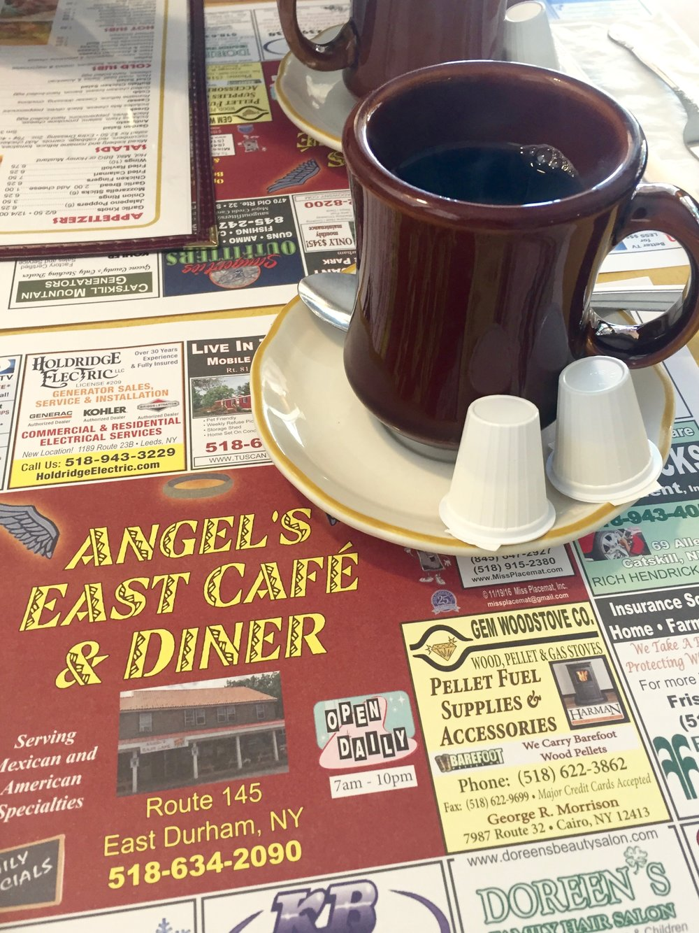 Coffee at Angel's Cafe