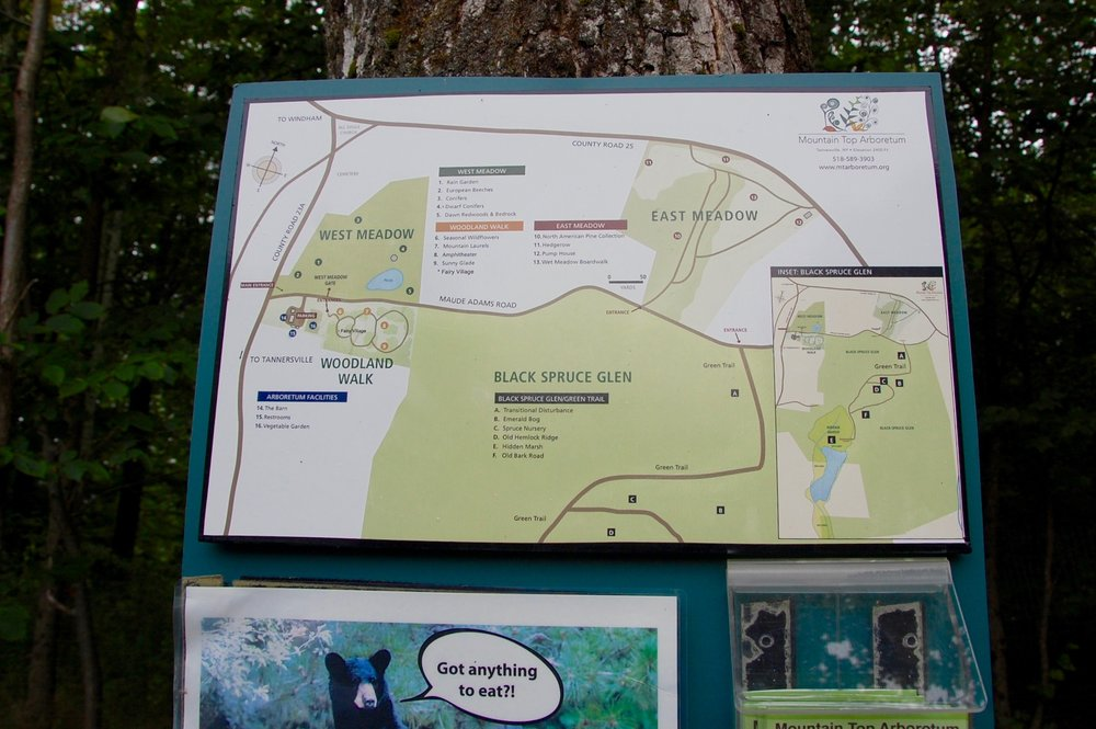 mountaintop arboretum map