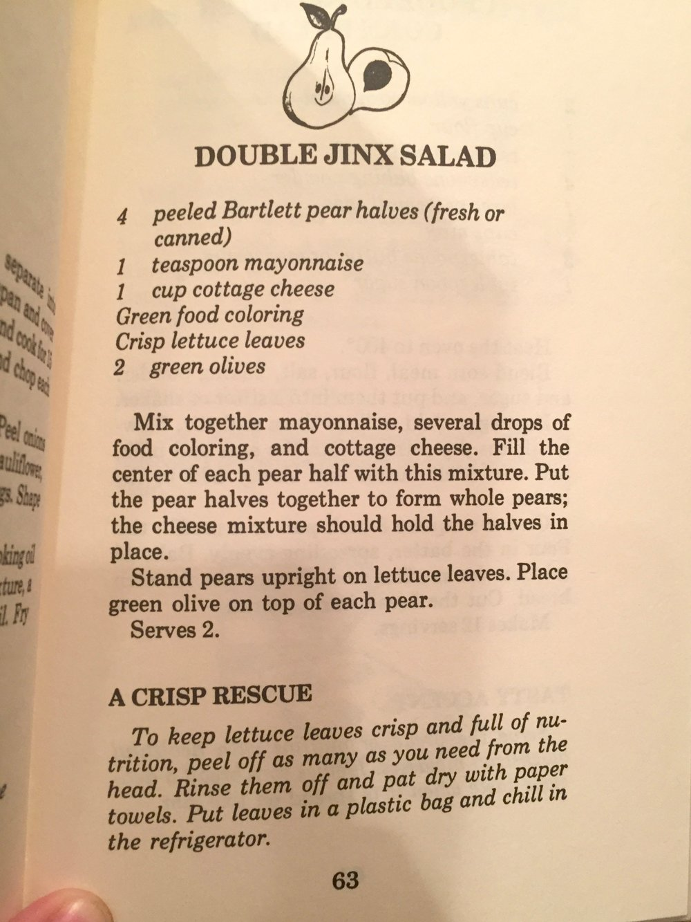 Horrifying salad from The Nancy Drew Cookbook
