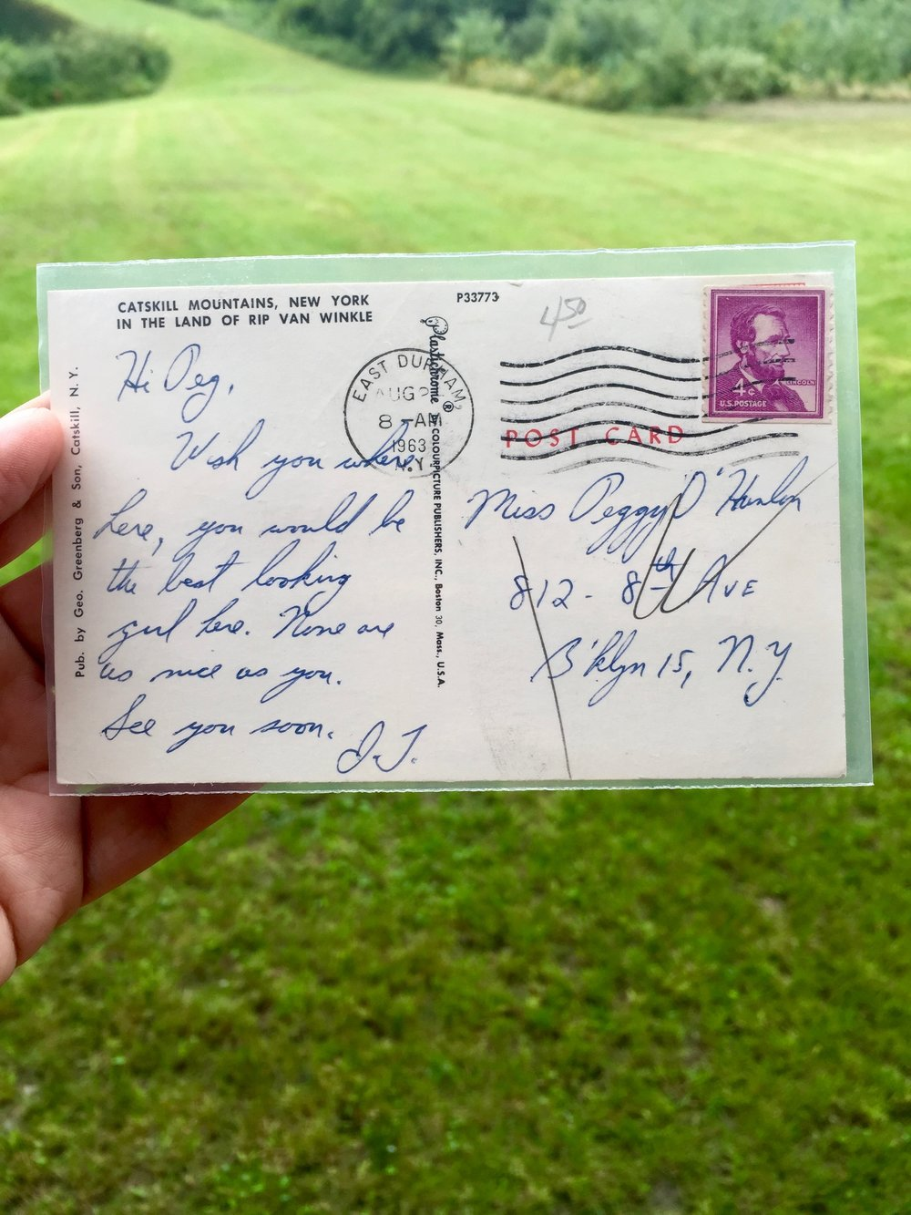 A postcard to Peggy O'Hanlon