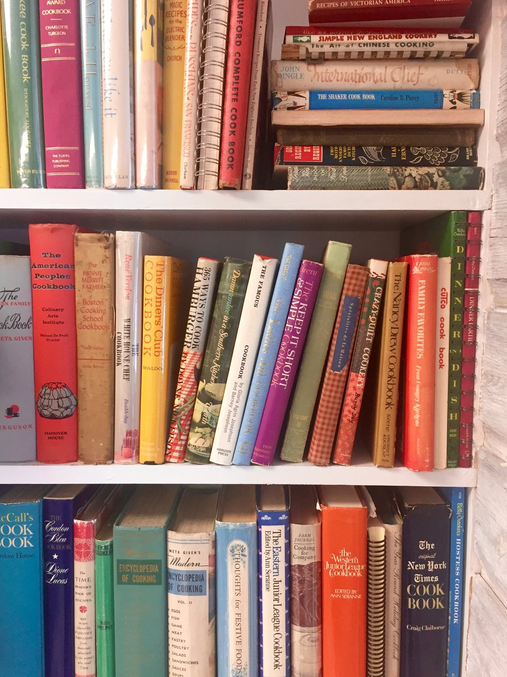 Shelves at Creative Corner Books