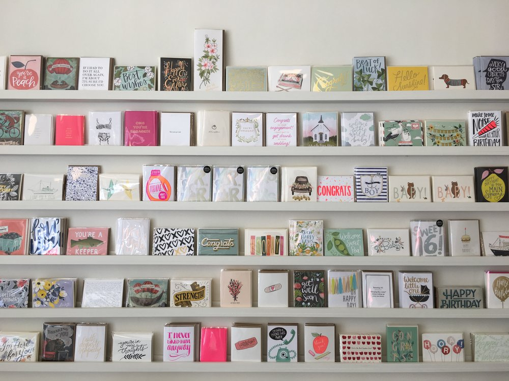 The best greeting card selection in the Catskills.  Photo courtesy of Pilothouse Paper.