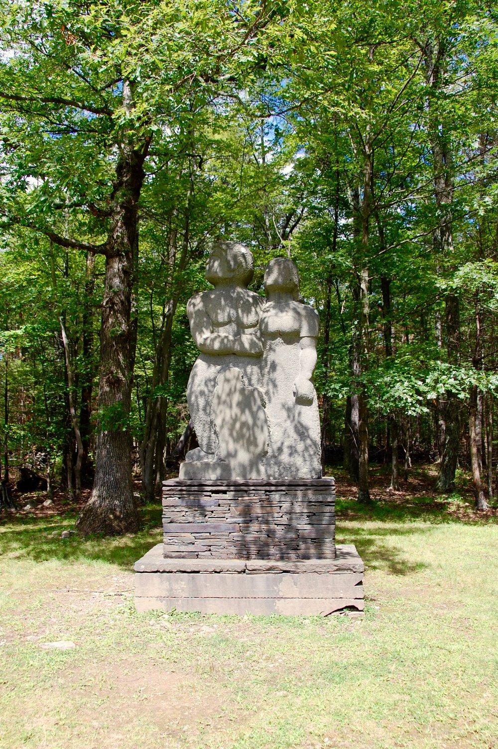 opus 40 couple statue