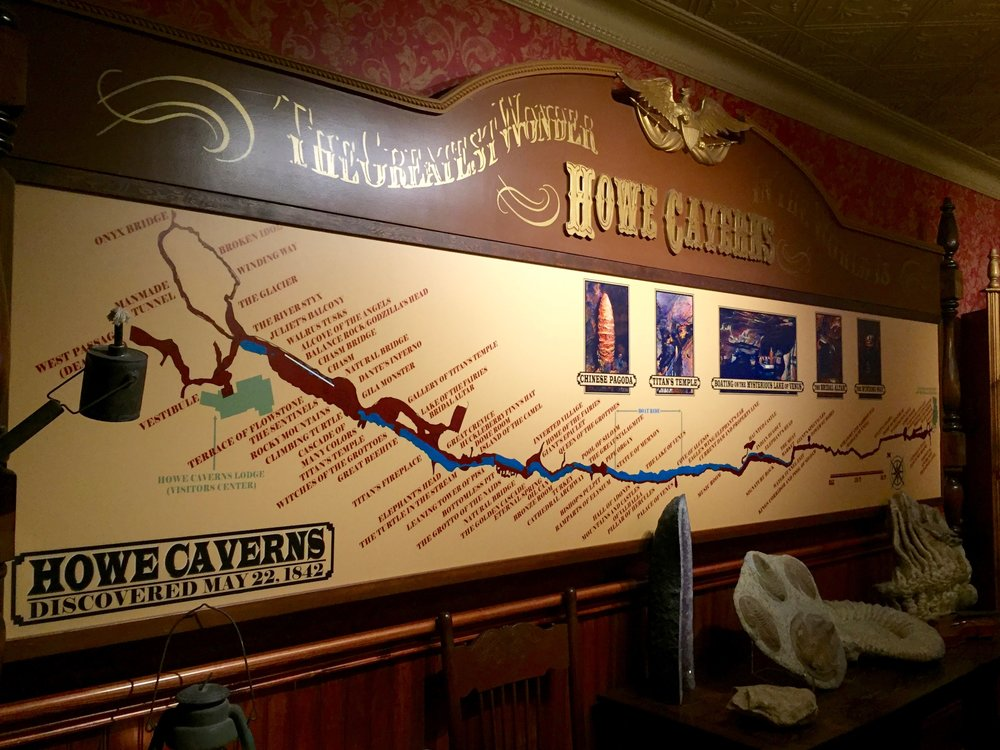howe caverns map