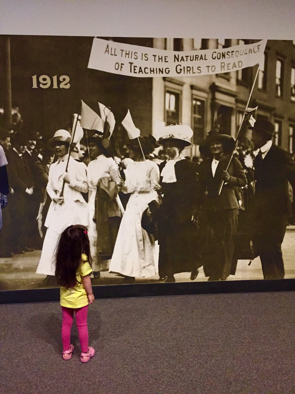 Women's suffrage exhibit in Albany