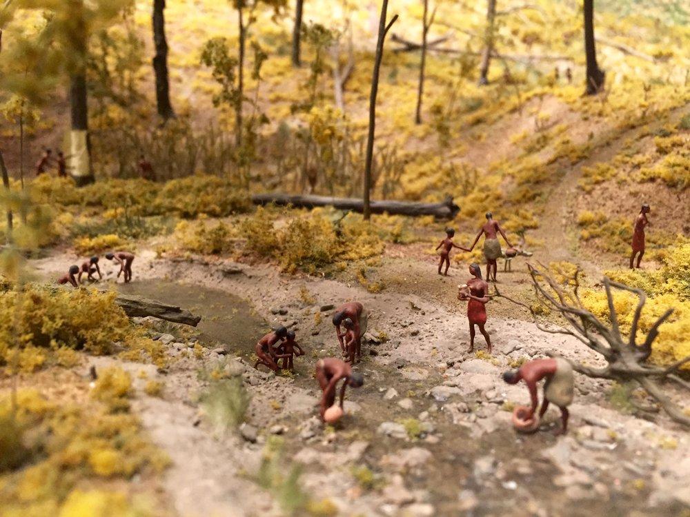 Mohawk Iroquois diorama