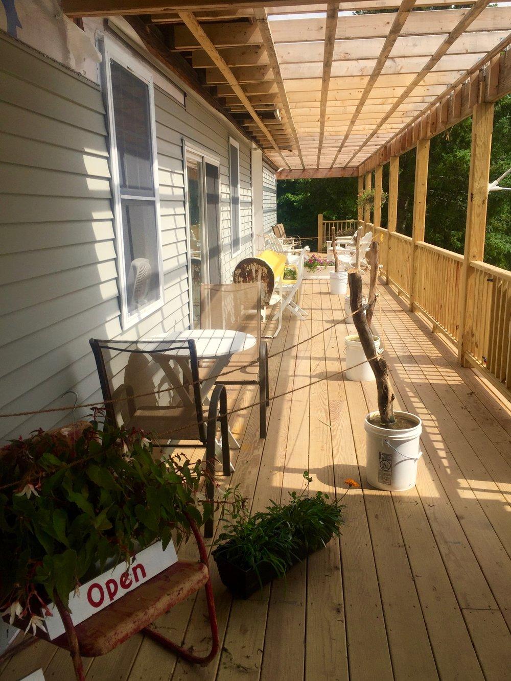 Kuhar Family Farm outdoor seating