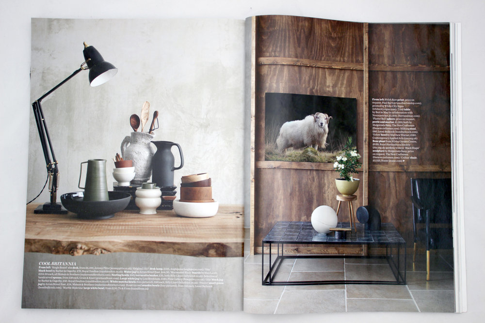 Elle Decoration October 2016 - Cool Britannia - featuring:    White marble Katori