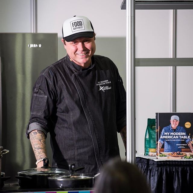 It was such a pleasure to watch @djshaunoneale cook yesterday at the @nwfpa Food and Beverage World show! Shaun is the season 7 winner of @masterchefonfox competition. Check out his new cook book, My modern American table. Thanks Shaun! . . . #portlandphotography #portlandphotographer #eventphotographer #corporatephotography #conferencephotography #tradeshowphotographer #nwfoods #northwestfoodprocessors @oregonconventioncenter #masterchef @travelportland #travelportland #pdxsmallbusiness