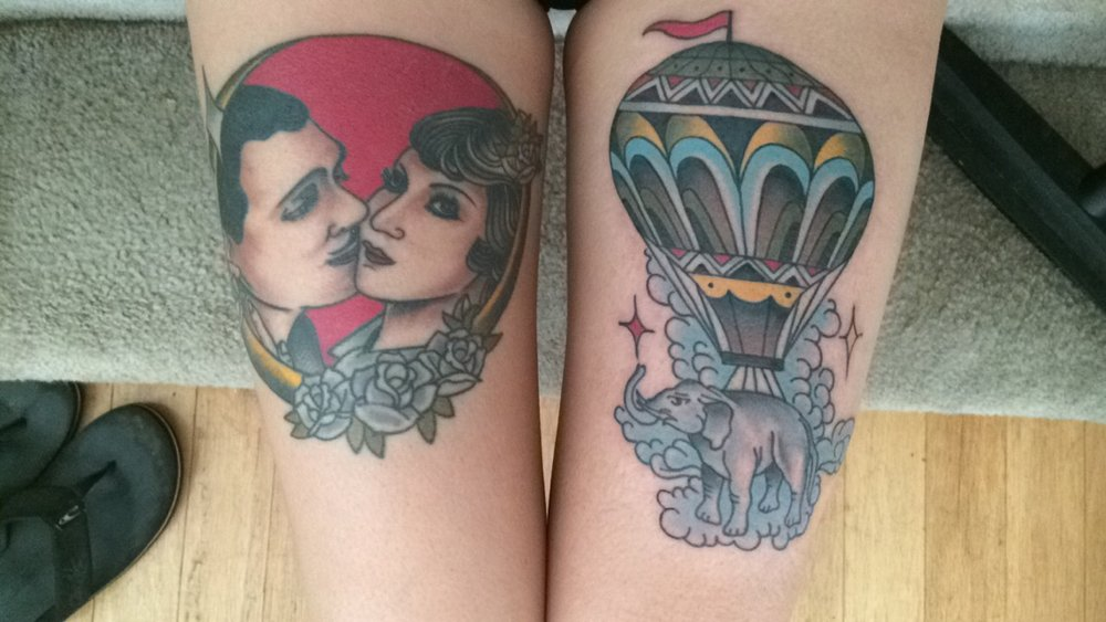 Hot Air Balloon at Live Free in Atlanta by Miguel (@miguelolascuagatattoo)