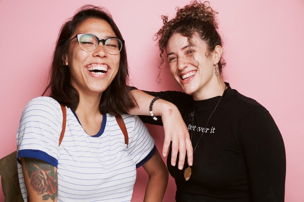 Adina (R) and I (L) photographed by  Jack Strutz