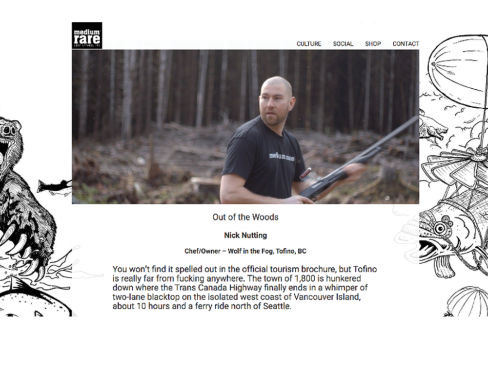 Screen Shot of Medium Rare Blog: Introduction to Nick Nutting