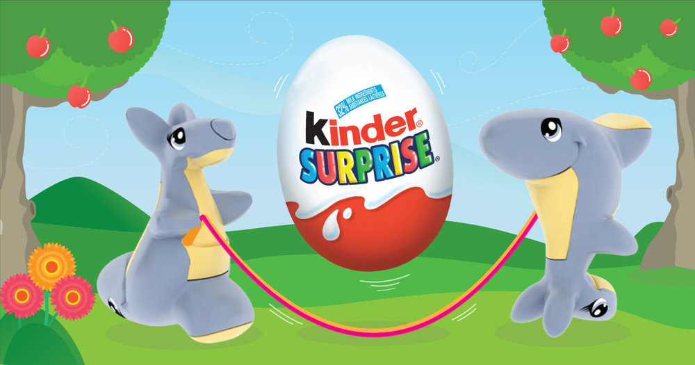 Copy: With KINDER® SURPRISE®, there's always a reason to jump for joy!